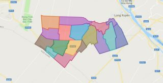 Map of Thoai Son district - An Giang