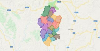 Map of Cho Don district - Bac Kan