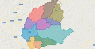 Map of Ngan Son district - Bac Kan