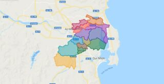 Map of Tuy Phuoc district - Binh Dinh