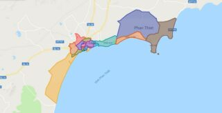 Map of Phan Thiet city - Binh Thuan