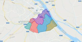 Map of Cai Rang district - Can Tho city