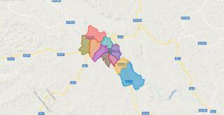 Map of Cao Bang city - Cao Bang