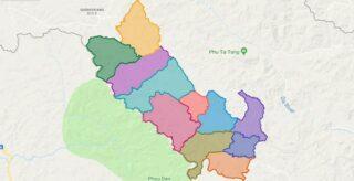 Map of Muong Nhe district - Dien Bien