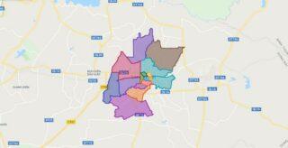 Map of Long Khanh city - Dong Nai