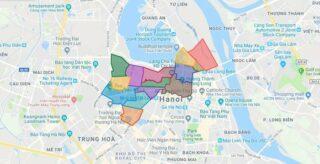 Map of Ba Dinh district - Ha Noi