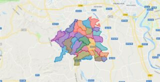 Map of Chuong My district - Ha Noi