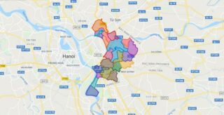 Map of Gia Lam district - Ha Noi