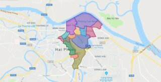 Map of Ngo Quyen district - Hai Phong city