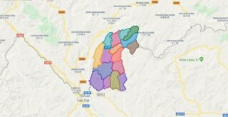 Map of Muong Khuong district - Lao Cai