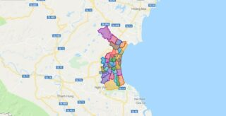 Map of Dien Chau district - Nghe An