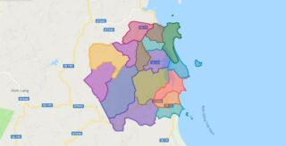 Map of Tuy An district - Phu Yen