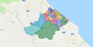 Map of Le Thuy district - Quang Binh