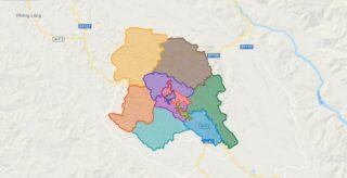 Map of Son La city - Son La