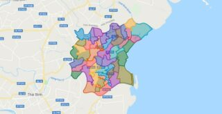 Map of Thai Thuy district - Thai Binh