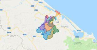 Map of Huong Tra town - Thua Thien Hue