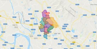 Map of Tam Duong district - Vinh Phuc