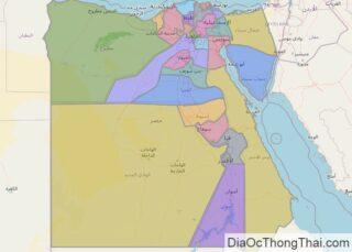 Bản đồ Ai Cập