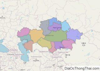 Bản đồ Kazakhstan