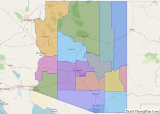 Political map of Arizona State – Printable Collection