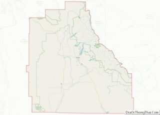 Map of Sublette County, Wyoming