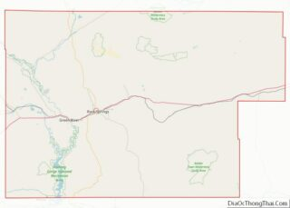 Map of Sweetwater County, Wyoming
