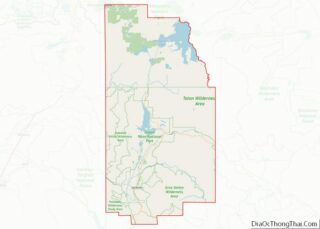 Map of Teton County, Wyoming