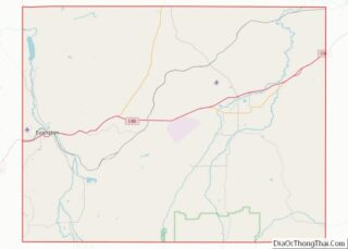 Map of Uinta County, Wyoming