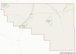 Map of Washakie County, Wyoming