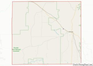 Map of Weston County, Wyoming